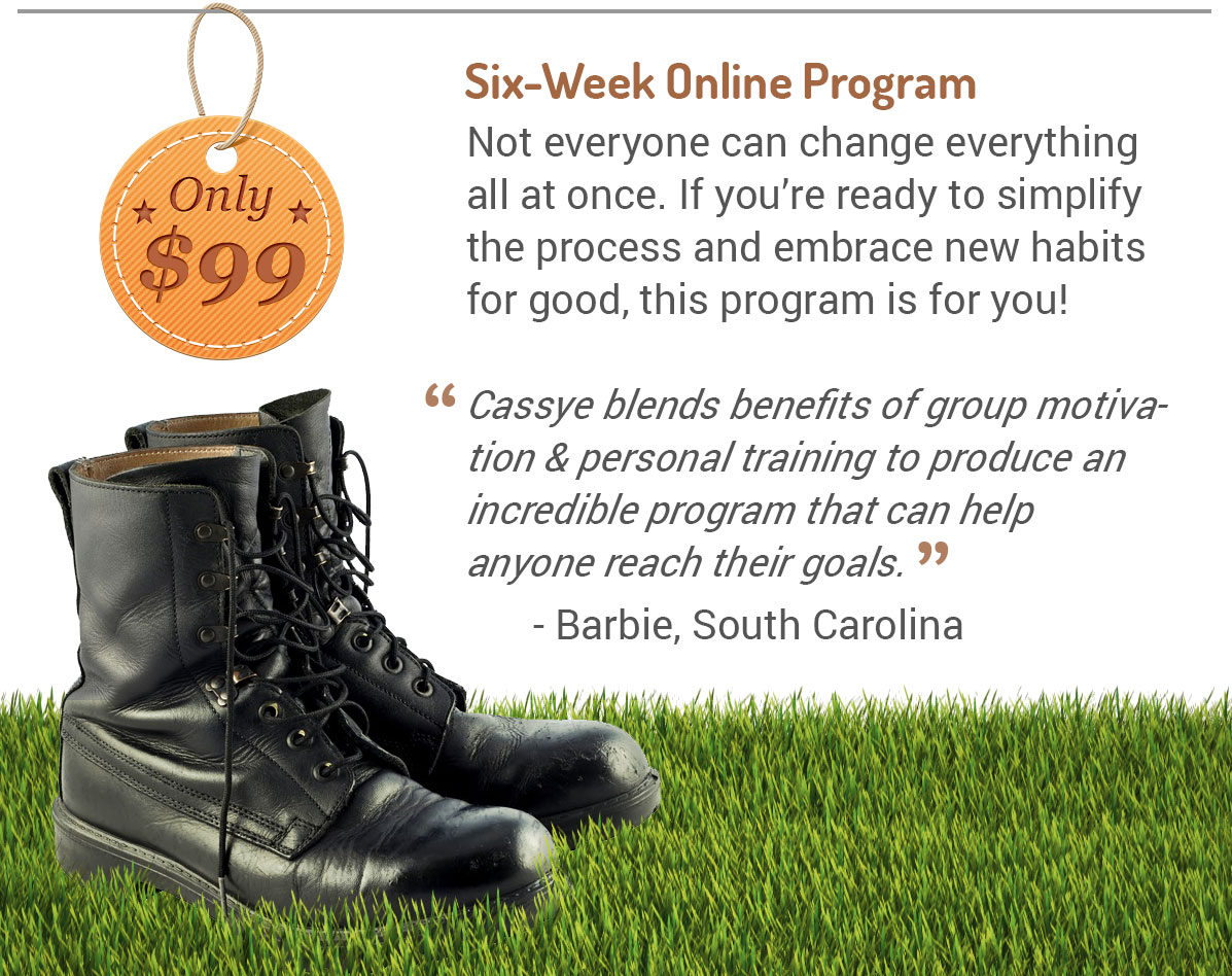 Back-to-Basics Bootcamp online fitness training program from Cassye Delphy of 43fitness