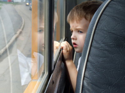 boy on bus