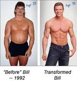 Bill's own transformation photo!