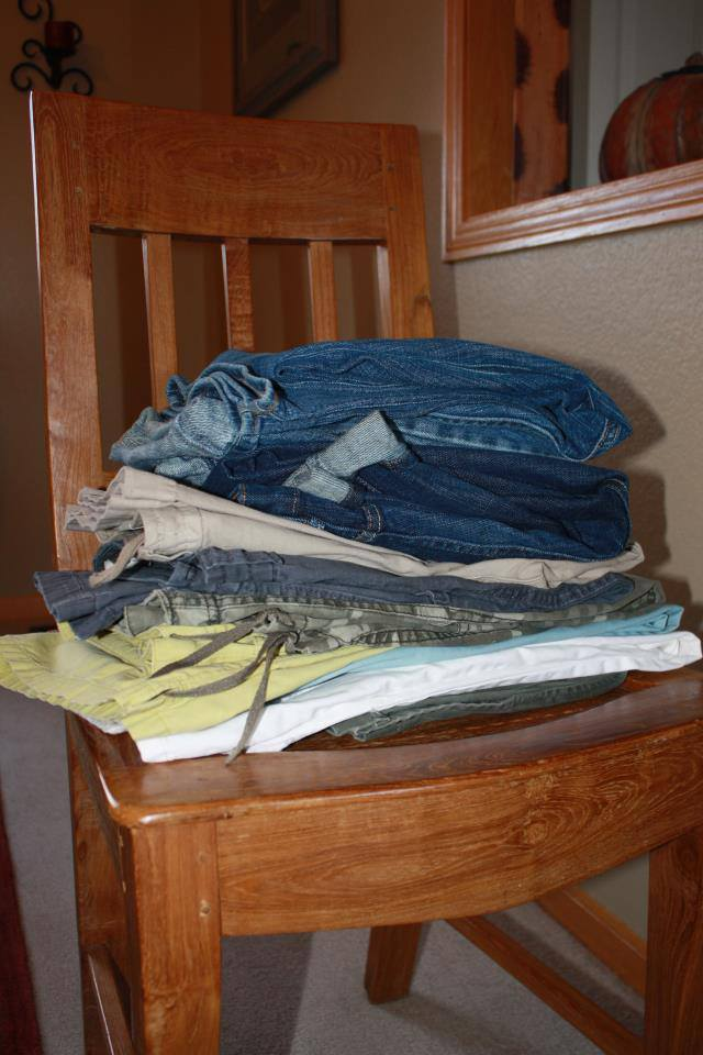 pants in stack