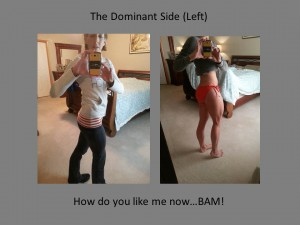 glutes final left side comparison