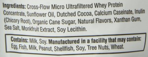 jamie eason ingredients label